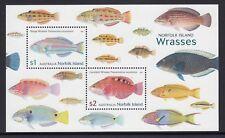 NORFOLK Island 2018 - WRASSES Fish MINISHEET MNH  - Marine Life