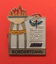 BORDERTOWN Sydney 2000 Olympic Torch Relay AMP sponsor pin
