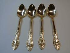 "Lot 4 Oneida Rose Gold Electroplate Soup Spoons 7"" long Pierced handle"