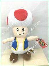 "Jumbo TOAD Super Mario Plush Official Licensed 14.5"" Mushroom Toad Toy Stuffed"