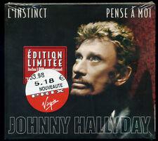 JOHNNY HALLYDAY L'INSTINCT CD 2 TITRES + DVD CLIPS 2003 TIRAGE LIMITE SCELLE