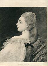«Portrait Luis XV» grabado por Felix Jasinski sobre obra de Jacquet