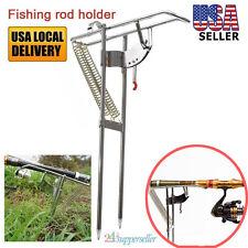 Adjustable Automatic 2 Spring Angle Pole Fish Pole Bracket Fishing Rod Holder Us