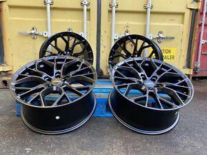 "XT1 19"" INCH PERFORMANCE SPORT ALLOY WHEELS ALLOYS M BMW 3 4 5 SERIES BLACK"