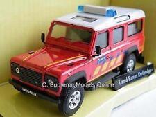 LAND ROVER DEFENDER FIRE DE PANNE 1/43 MODEL MINT CAR LWB RED EXAMPLE T3412Z -+-
