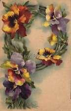 """Vintage Victorian Klein Floral Letter Initial """"P""""  2"""" x 3"""" Fridge Magnet"""