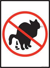 "No Cat Pooping Aluminum Cat Pooping Sign - 9"" x 12"""