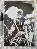 Daredevil Sketch Original Art By Cam Adams Comic Book Marvel