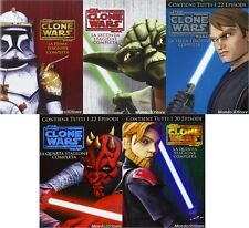 STAR WARS - THE CLONE WARS SERIE 1,2,3,4,5 (20 DVD) 5 BOX COMPLETE SERIES