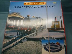 HORNBY R414 'OO' ELECTRIC OPERATING TURNTABLE ~ BOXED