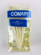 12 Conair Small Brush Rollers Bouncy Full Curls Fine Hair Curlers Vented Pins