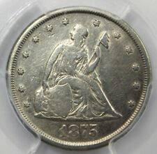 1875 - CC, SEATED LIBERTY 20 CENT PIECE, PCGS VF DETAIL, Corrosion Removed
