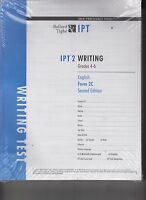 Package of 50 IPT 2 Writing Test Booklets Gr 4-6 English From 2C 2nd Edition NEW