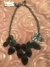 Style & Co Glossy Hematite-Tone Pebble Statement Necklace, New $34.50