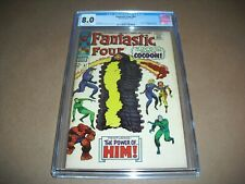Fantastic Four #67 CGC 8.0 w/ OW pages from 1967! 1st app Him not CBCS