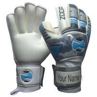 zoop pro goalkeeper flat roll finger saver goalie gloves size 5/6/7/8/9/10.