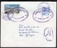 CHILE CIRCULATED COVER 1987 ANTARCTIC BASE Tte. MARCH - SAN IGNACIO DE PALOMARES