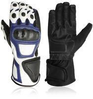 Motorrad handschuhe Biker Lederhandschuhe Sommer Leder handschuhe Gr. S - 2XL