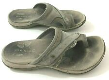MERRELL Hollyleaf Womens 5M Sandals Taupe Leather Toe Strap