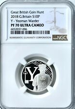 More details for 2018 10p silver proof great britain y yeoman ngc pf70