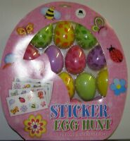 Easter Egg Sticker Hunt Kit 16 Eggs with stickers