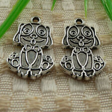free ship 30 pieces tibetan silver dog charms 27x16mm #4168