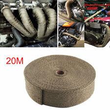 20M Bande Isolante Titanium Thermique Moto Tuyau Échappement / Header Heat Wrap