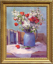 """Marilyn Yanke """"Promises"""" Hand Signed Original Oil Painting on Canvas, floral art"""