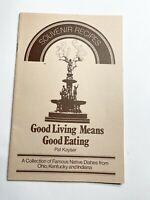 Vintage Souvenir Recipes Booklet Ohio Kentucky Indiana Famous Native Dishes