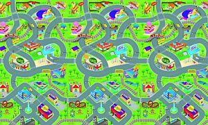 PlayMat 120x100cm EVA Eddy Toys, Giant Kids Play Mat with City Streets Traffic