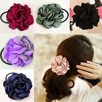AU_ Women Hair Band Rope Elastic Flower Ponytail Holder Scrunchie Accessories We