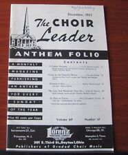 The Choir Leader Anthem Folio - 1962 songbook sheet music Vocal Piano