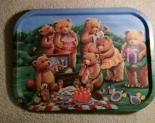 """Teddy Bears' Picnic"" Tin Serving Tray, 15 1/2"""
