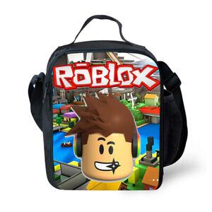 UK Roblox School Bag Girls Boys Snack Bags Lunch Box Kids' Gifts
