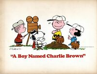 A BOY NAMED CHARLIE BROWN 1969 MOVIE PROGRAM BOOK-CHARLES SCHULZ-VINCE GUARALDI