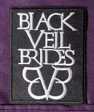 BLACK VEIL BRIDES EMBROIDERED PATCH HEAVY METAL PUNK BIKER DIY SEW/ IRON ON