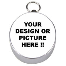 new PERSONALIZED Custom Your LOGO Design PHOTO Text Silver COMPASS FREE Shipping