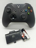 Microsoft Xbox One Controller Black Wireless With 2 AA Batteries - Free Shipping