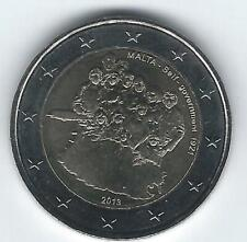 Pièce 2 euros commémo Malte 2013 (Autonomie Gouvernementale)