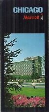 Vintage Brochure for Chicago Marriot near O'Hare Park Ridge Illlinois Hotel