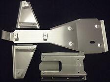 YAMAHA RAPTOR 660R FRAME SKID PLATE & A-ARM PLATE SET .125 & SWINGARM SKID .190