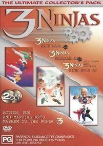 3 Ninjas Triple Pack (DVD, 2003, 2-Disc Set)