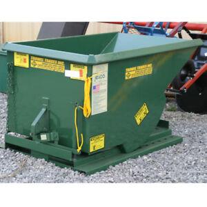 Jesco Husky Self Dumping Trash Hopper 1 Yard 2,000 lb Capacity