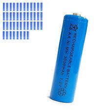 44 pcs AA 2A 3000mAh 1.2V Ni-MH rechargeable battery Solar Light MP3 Toy Blue