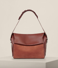 NWT $298 ALLSAINTS MAYA SHOULDER TOTE SATCHEL BAG SIENNA BROWN