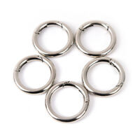 5pcs circle metal carabiner hook snap round clip hook keychain outdoor 35mm A Jf