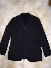 JCrew $358 Mens Ludlow Suit Jacket in Italian Cotton Pique 42R Black a0491 NWT