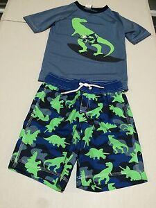 NWT Gymboree boy rash guard dinosaur set  2T,3T