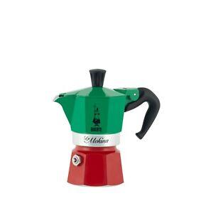Mokina bialetti Mini Moka 40 Cc Express Half Cup ½ Tri Color Italy