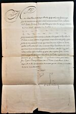 KING LOUIS XVI SIGNED LETTER NAMING THE KNIGHT OF THE ORDER OF SAINT LOUIS 1787